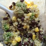 Light and fresh quinoa salad.