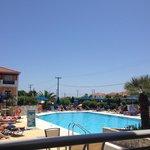 The pool area...