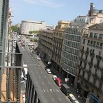 View from our room from 6th floor towards Plaza Catalunya