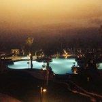 Pool at night brilliant veiw
