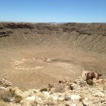 Overview of the meteor crater in Arizona