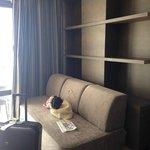 sofa in room