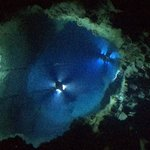 途中の海底湖 透明度が高い