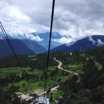Views on the cable car to Yak Meadow