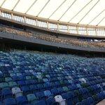 The stadium's fallen silent .... for now!