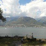 Abbaye de Piona : vue sur le lac