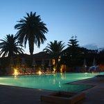 Hotel pool at night...enchanting.