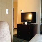 tv area from closest bed