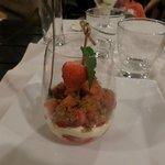 carpaccio de fraise au spéculoos
