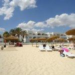 L'hôtel depuis la plage
