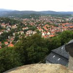 View of Wernigerode from castle garden
