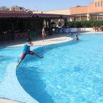 Two kids swimming pool are available together with an adult one