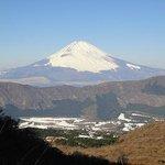 大涌谷からの富士山。