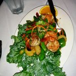 Spicy basil shrimp - fantastic if you love the flavor of basil
