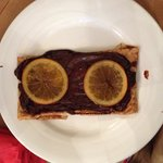 Gallêtte au chocolat et oranges confites