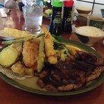 combo plate beef and tempura