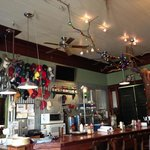 Eclectic interior design in a very old brick building
