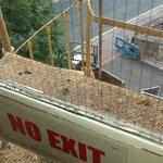 unusable fire escape