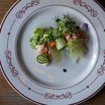 Snow crab and lobster salad with fennel cream