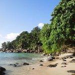 Rhe resort's beach
