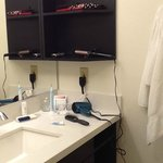 Bathroom sink & wall shelves