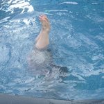 handstand in the pool