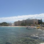 view of the hotel & beach