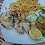 calamares y papas fritas