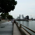 A view of the Singapore Bay from the Esplanade
