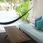 The veranda of our Beach-facing Room. Perfect for lazy days and hiding from the sun!
