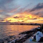 Nice sunset over Manila Bay.