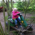 Enjoying the mini tractors