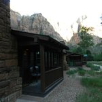 Front of our cabin at Zion Lodge