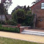 Walled garden and rear entrance to cafe