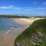 The view back to Crantock from near the Bowgie Inn