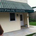 Aroma pie shop front door
