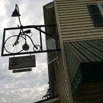 Aroma pie shop bike sign