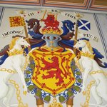Royal heraldry in interior rooms