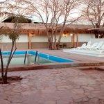 Parte de descanso y piscina