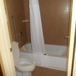 Separate room for toilet/shower