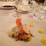 Lasagnetta con gamberi