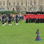 Changing of Guard - pipers and guard