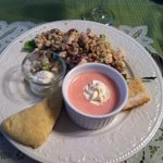 Chicken Salad and Strawberry Soup