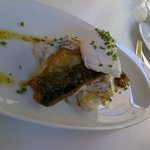 Soem local white fish topped with a poached egg.