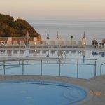 Playa Azul pool at sunset