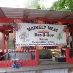 Mainely Meat BBQ sign