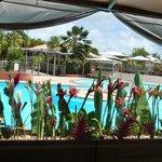 piscine vu du restaurant
