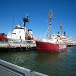 Coast guard and lightship