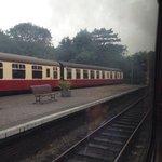At Sheringham station
