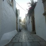 The romantic small street of Lindos Boutique